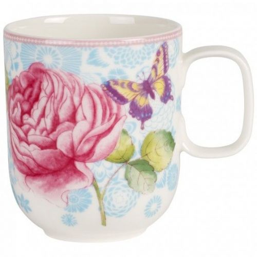 Rose Cottage Mug - Blue